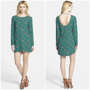 Nordstrom Tildon Teal Floral Dress
